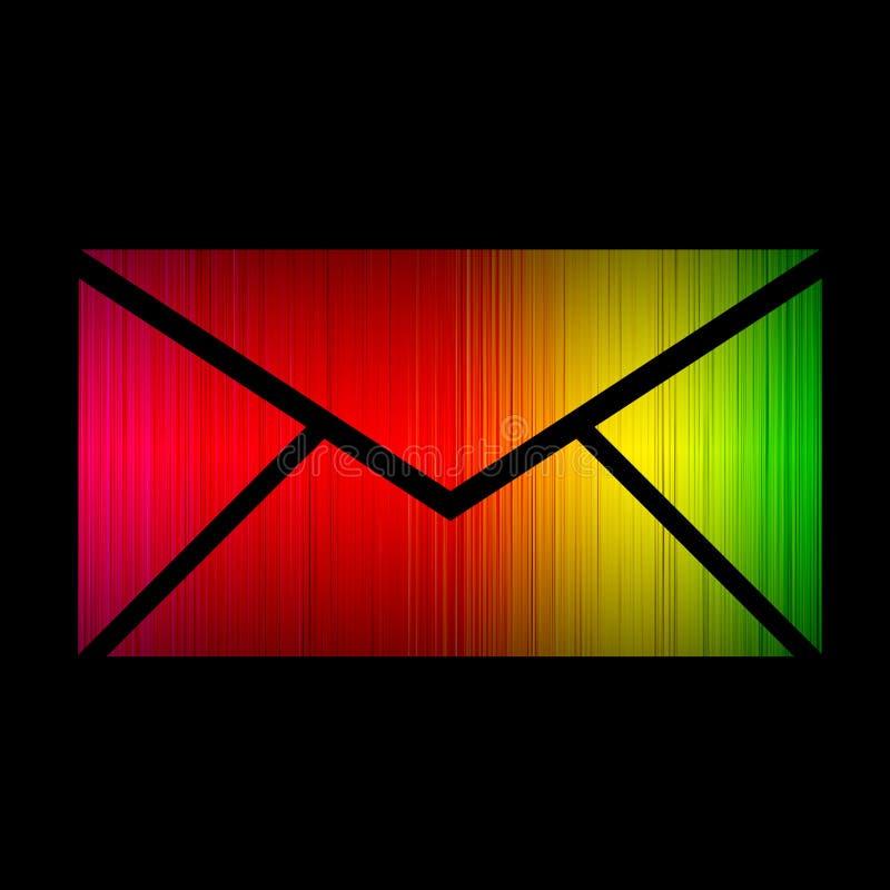 Emaila widma jarzyć się odizolowywam na czerni royalty ilustracja