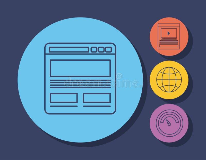 Emailadvertizingdesign stock illustrationer