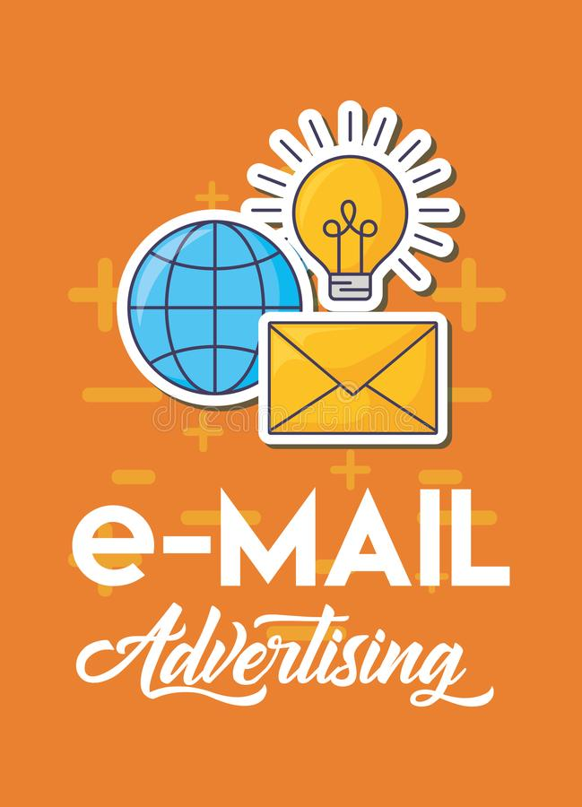 Emailadvertizingdesign stock illustrationer