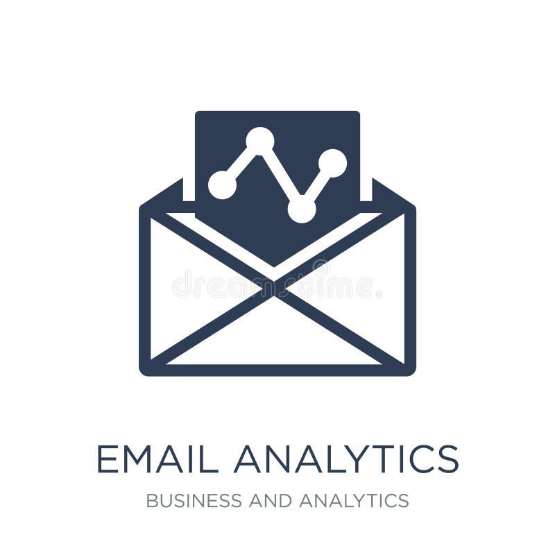 EmailAnalyticssymbol Moderiktig plan symbol för vektorEmailAnalytics på stock illustrationer
