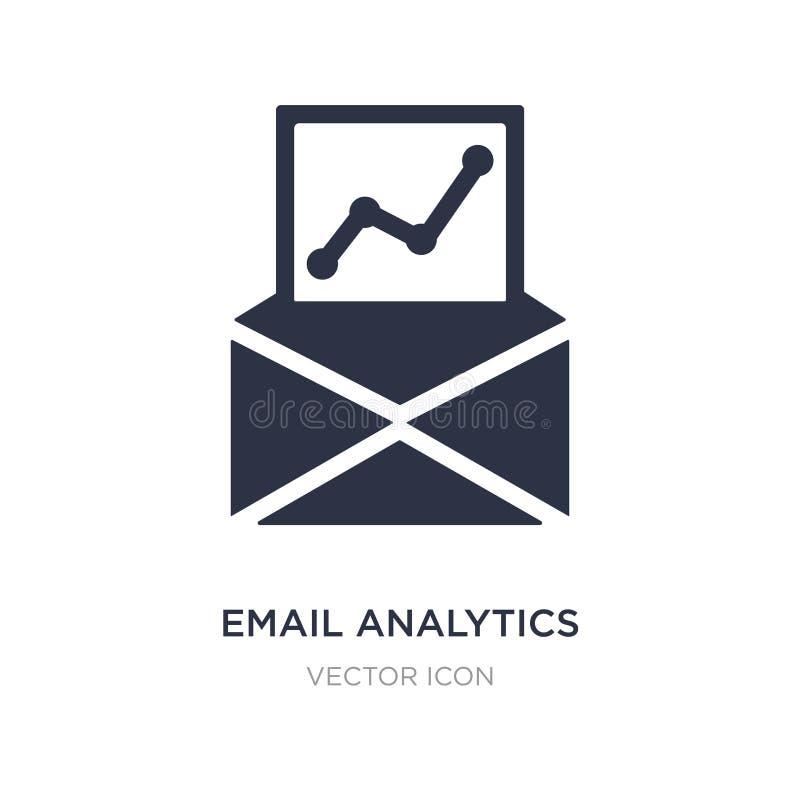 emailanalyticssymbol på vit bakgrund Enkel beståndsdelillustration från affärs- och analyticsbegrepp stock illustrationer