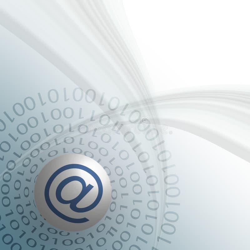 Emailbegrepp stock illustrationer