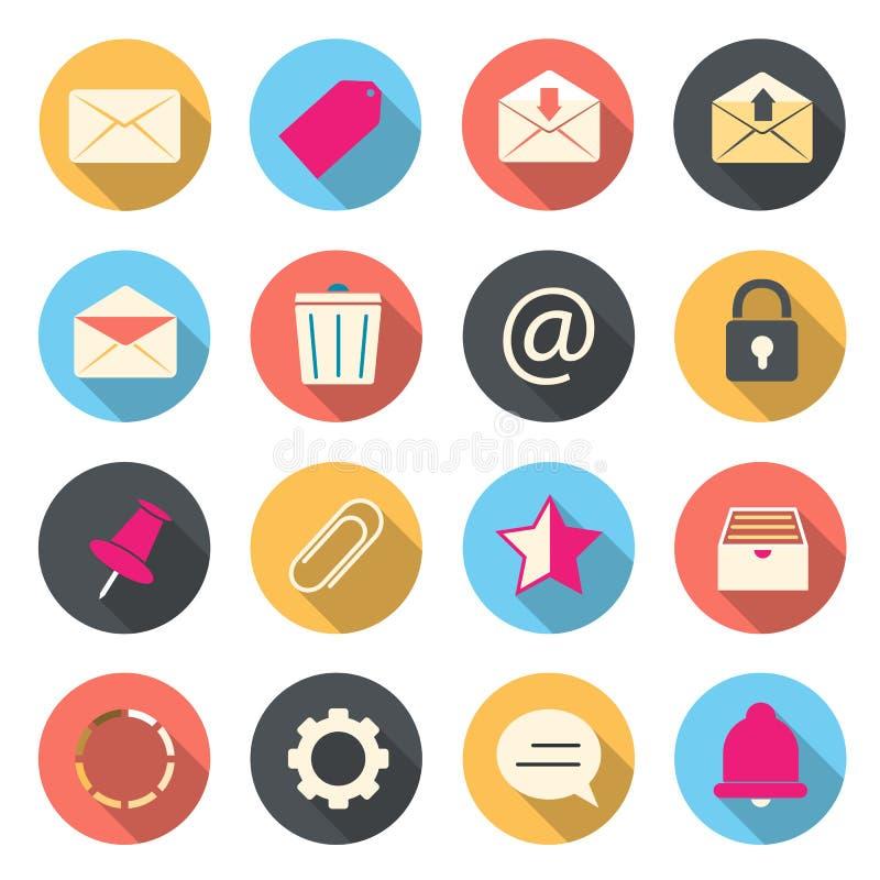 Emailfärgsymboler royaltyfri illustrationer