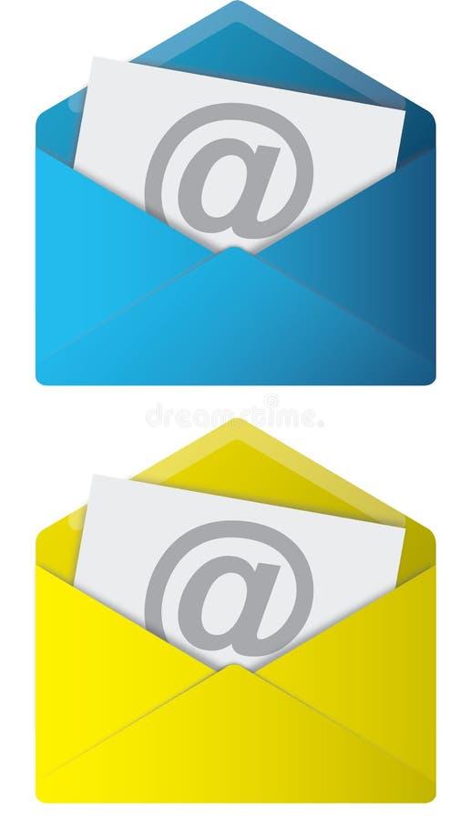 emaili symbole ilustracji