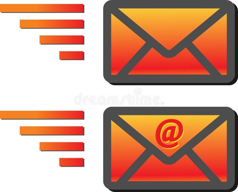 Emailkuverttecken royaltyfri illustrationer