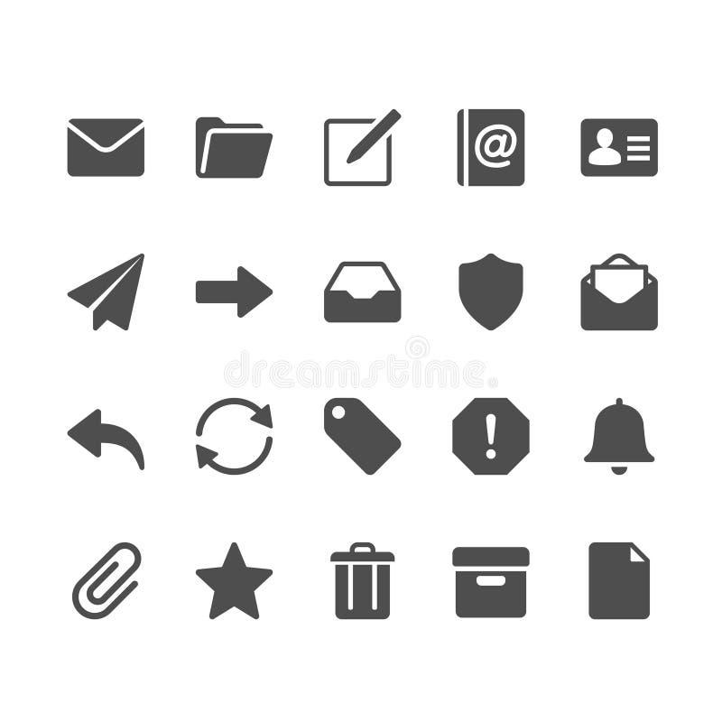 Emailskårasymboler stock illustrationer