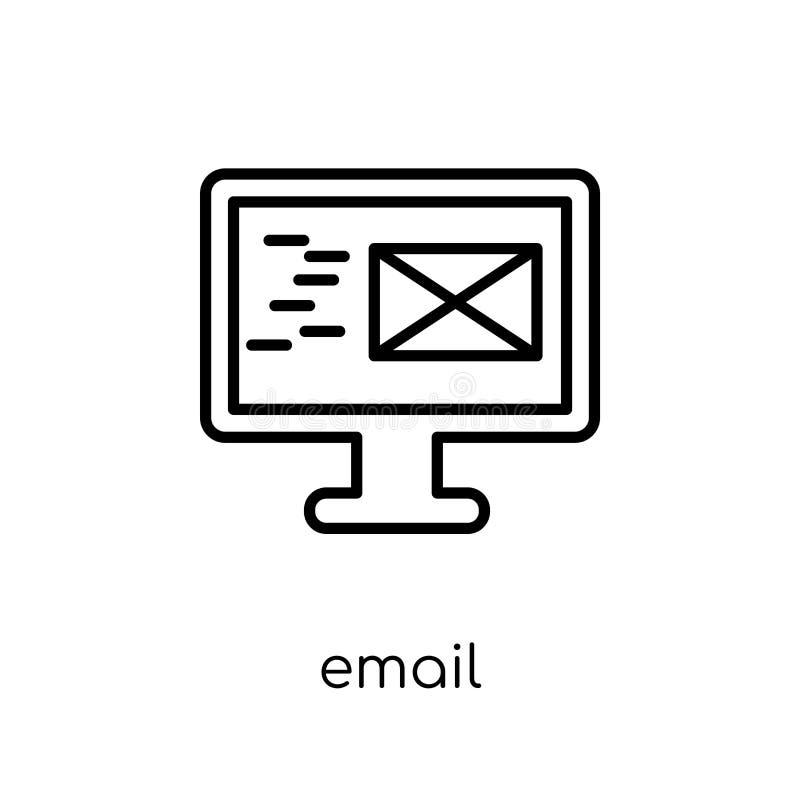 Emailsymbol från kommunikationssamling stock illustrationer