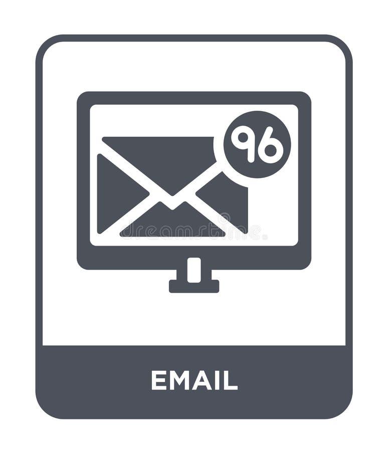 emailsymbol i moderiktig designstil Emailsymbol som isoleras på vit bakgrund enkelt och modernt plant symbol för emailvektorsymbo stock illustrationer