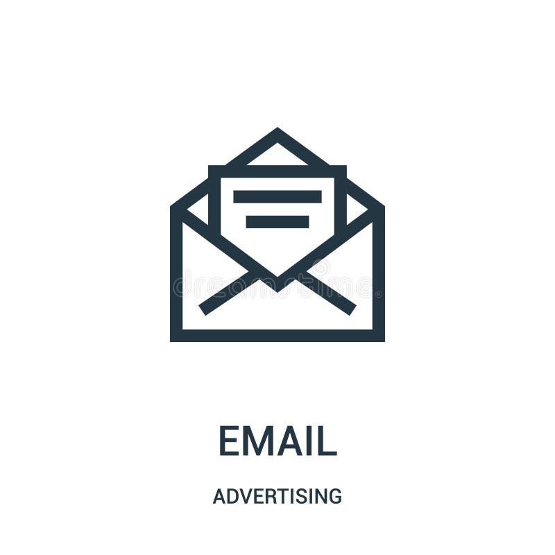 emailsymbolsvektor från annonsering av samlingen Tunn linje illustration f?r vektor f?r email?versiktssymbol stock illustrationer