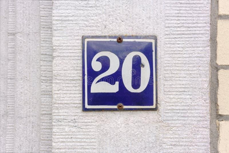 Emaliująca domowa liczba 20 fotografia stock