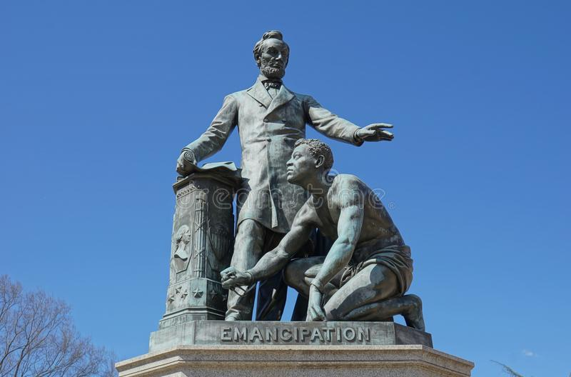 Emancipation Memorial - Lincoln Park stock photos
