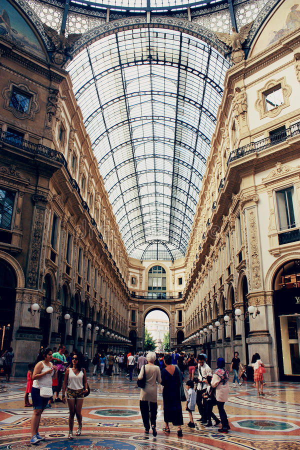 emanuele galerii ii Milan vittorio obrazy royalty free