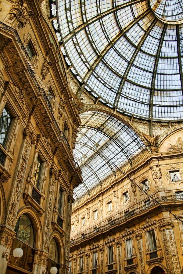 emanuele galleria ii vittorio zdjęcie royalty free
