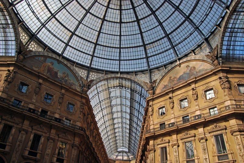 emanuele galleria Milan vittorio obraz royalty free