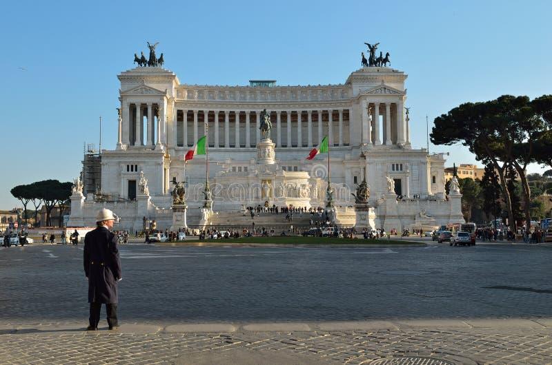 emanuele monumentrome vittorio royaltyfria bilder