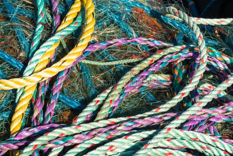 Emaranhado das cordas foto de stock