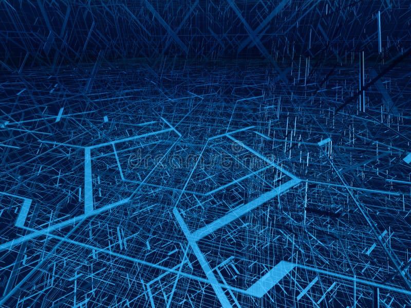 Emaranhado diagonal da fibra ilustração do vetor