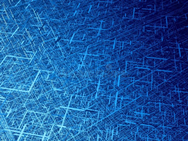 Emaranhado diagonal da fibra ilustração stock