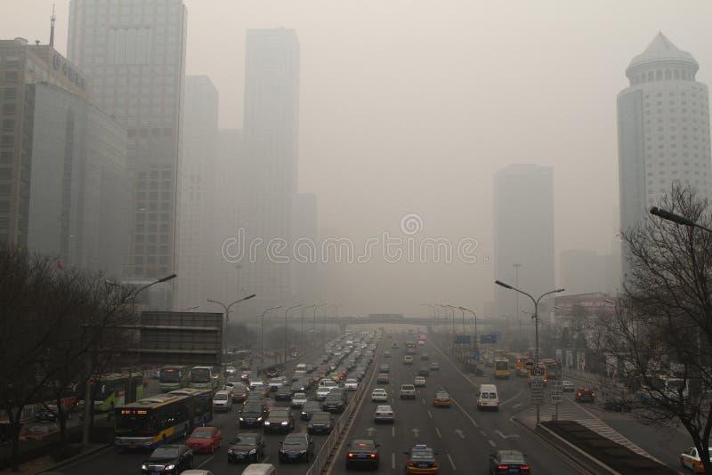 Embaçamento mais pesado em torno do Pequim imagens de stock royalty free