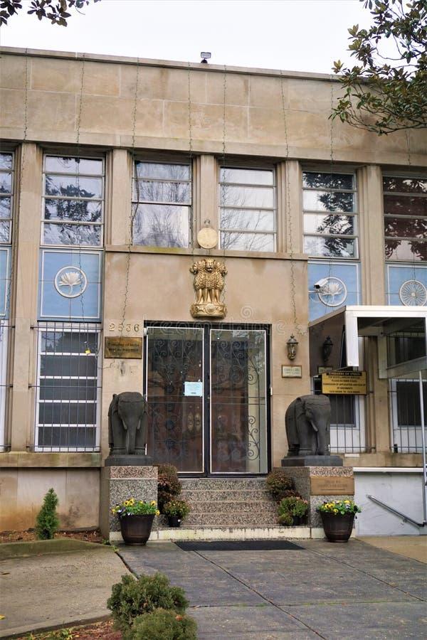 Embaixada da Índia no Washington DC imagem de stock royalty free