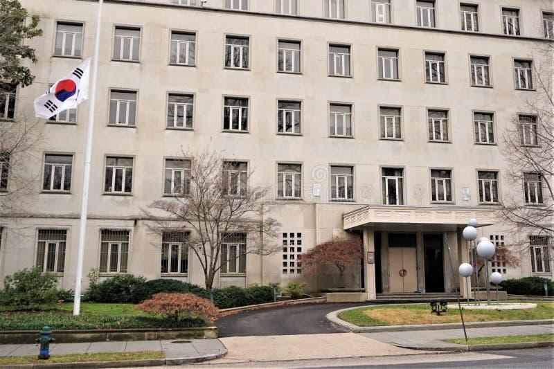 Embaixada de Coreia do Sul no Washington DC fotografia de stock