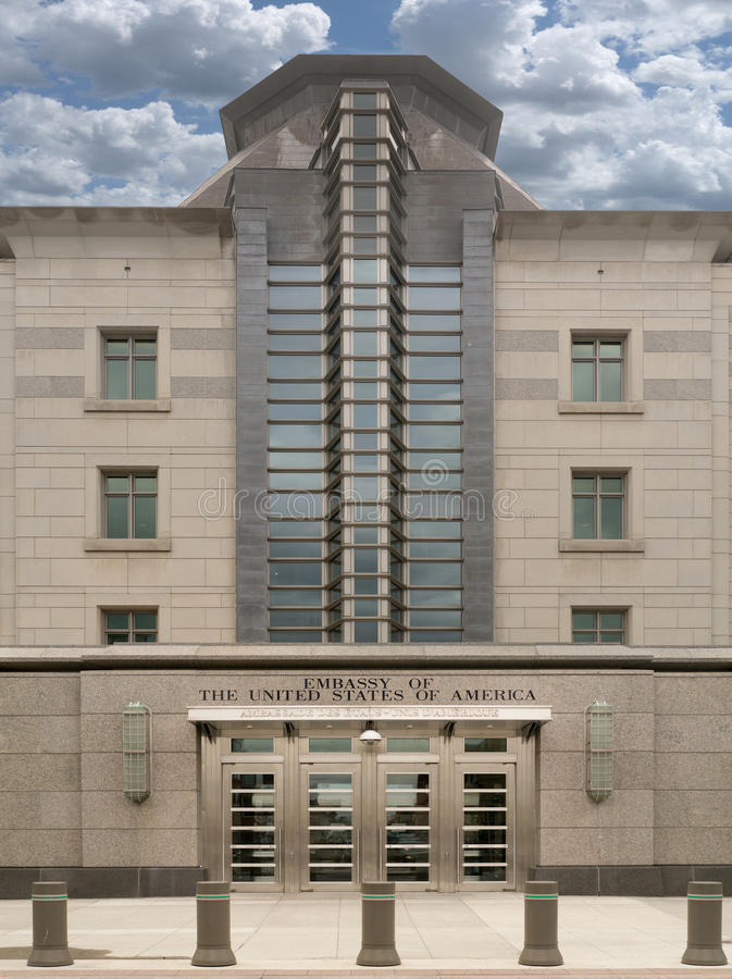 Embaixada do Estados Unidos imagem de stock royalty free