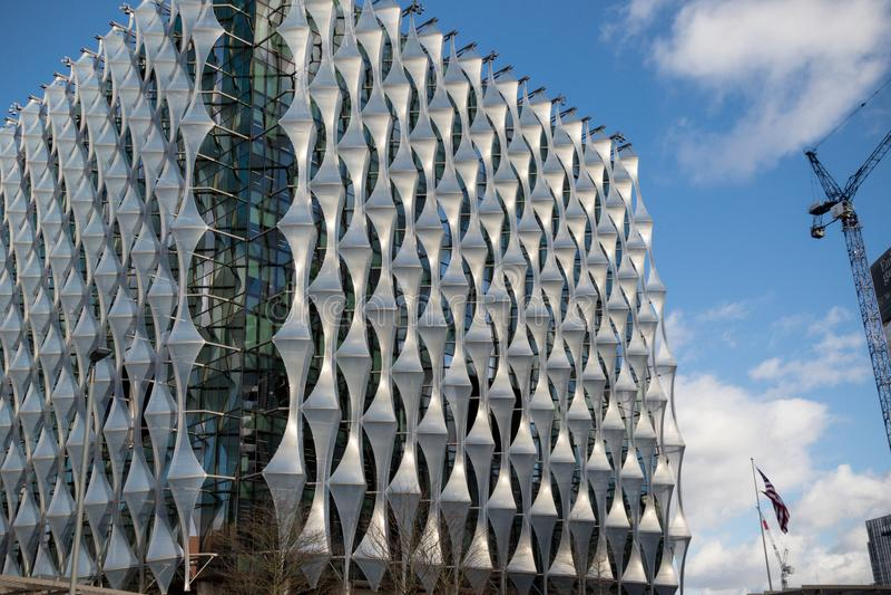 A embaixada do Estados Unidos da América em Londres imagem de stock