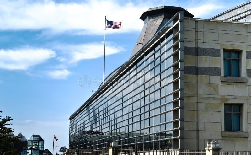 Embaixada dos EUA em Ottawa fotografia de stock royalty free