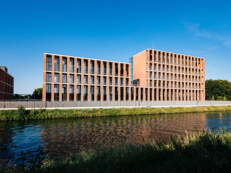 Embaixada turca moderna em Strasbourg fotos de stock royalty free