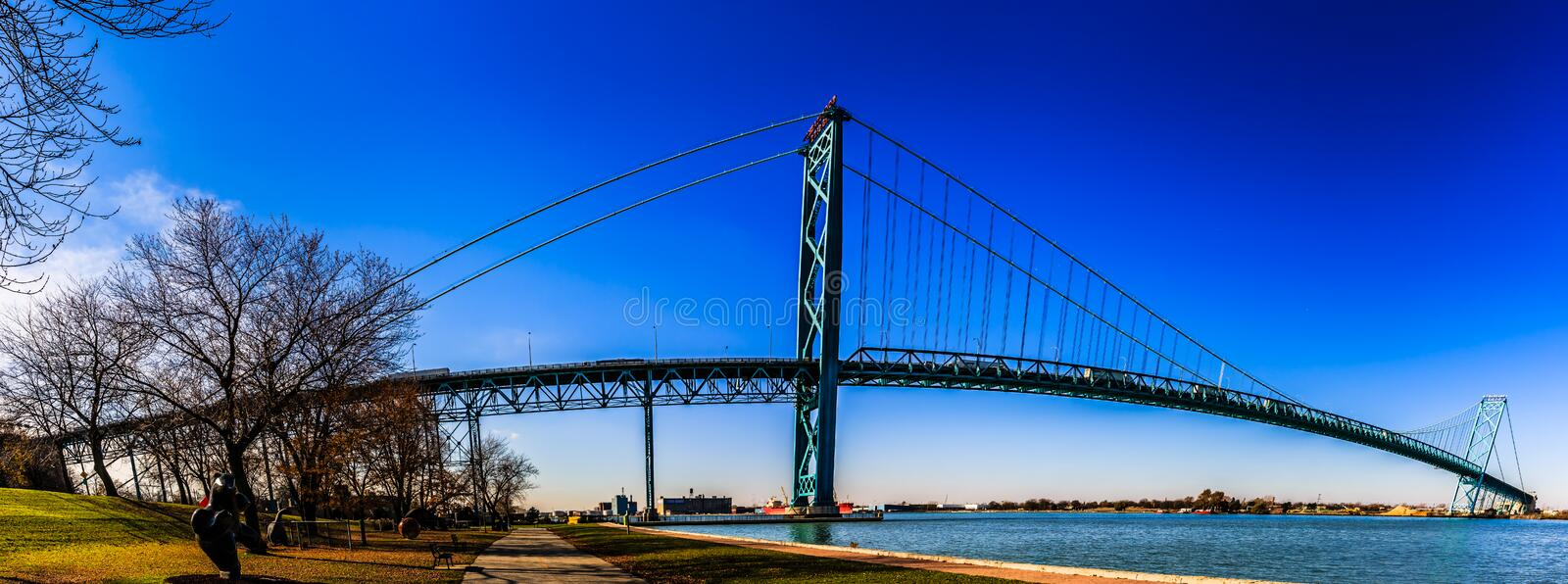 Embaixador Bridge, Windsor, Ontário, Canadá fotos de stock