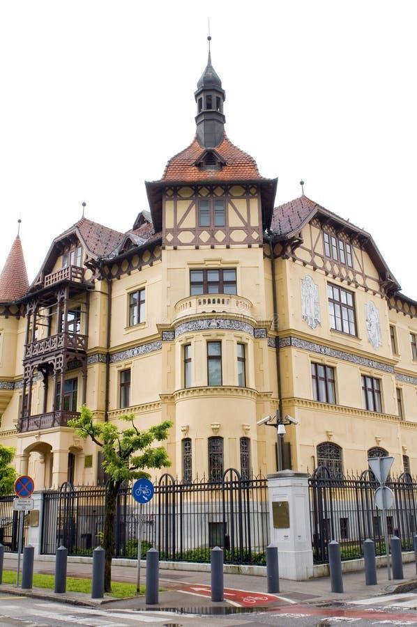 Embaixador Embassy do Estados Unidos no capital Ljubljana Slove foto de stock royalty free