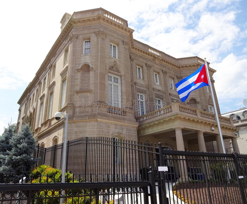 Embajada de Cuba en Washington DC fotos de archivo libres de regalías