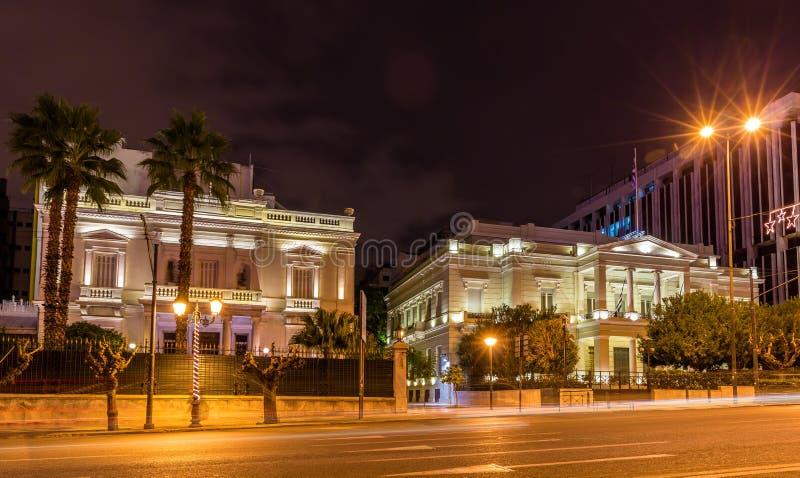Embajada de Egipto y el Ministerio de Asuntos Exteriores de Greecet imágenes de archivo libres de regalías