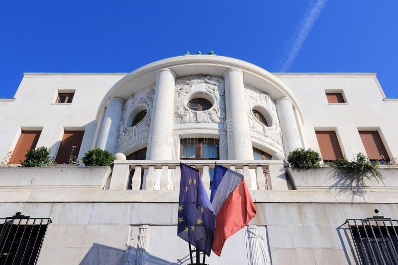 Embajada de Francia imagen de archivo libre de regalías