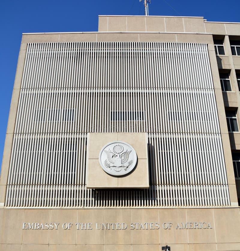 Embajada de los Estados Unidos de América en Tel Aviv imagenes de archivo