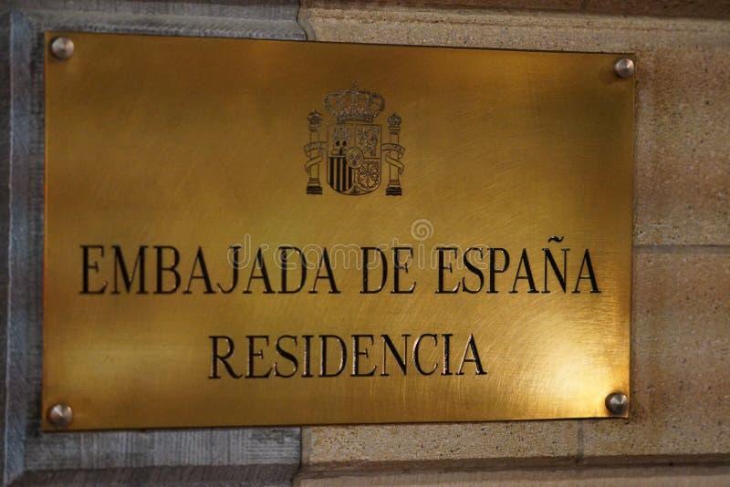 Embajada española en Bruselas imagenes de archivo