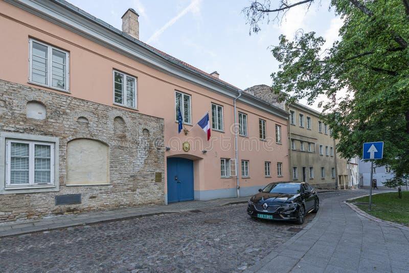 Embajada francesa en Vilna foto de archivo