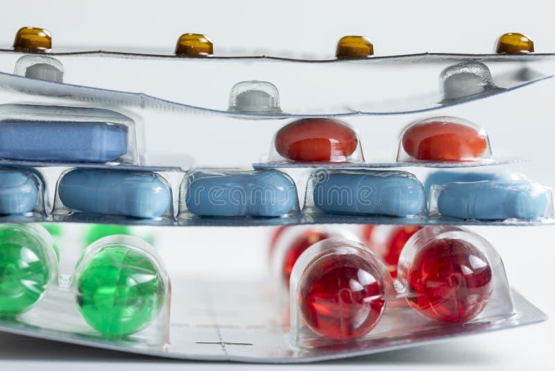 Embalagens blister de medicamentos fotografia de stock
