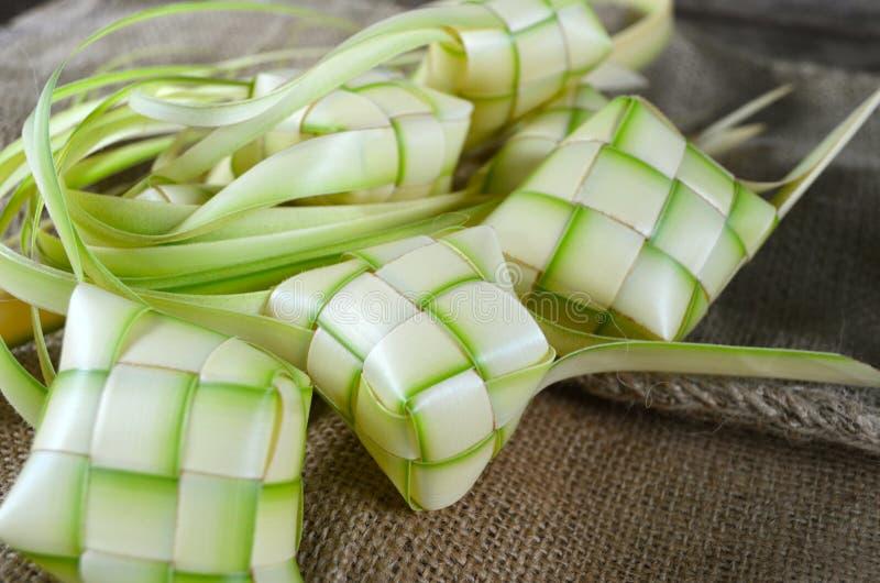 Embalagens de Ketupat fotografia de stock