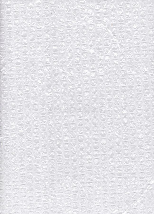 Embalaje blanco del plástico de burbujas fotografía de archivo