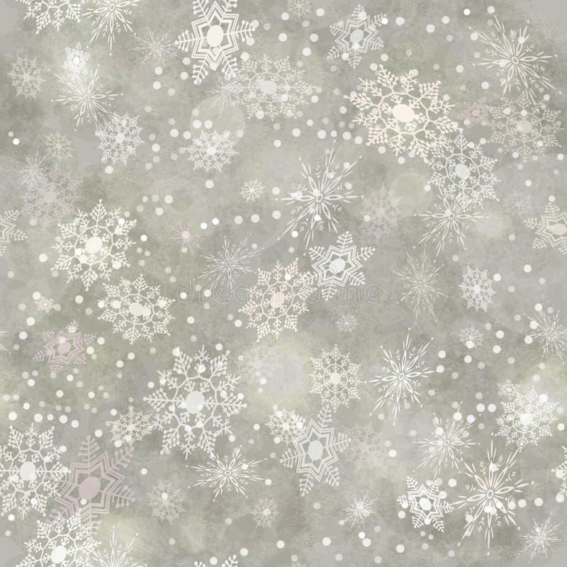 Embalaje del modelo inconsútil del copo de nieve de papel del vintage stock de ilustración
