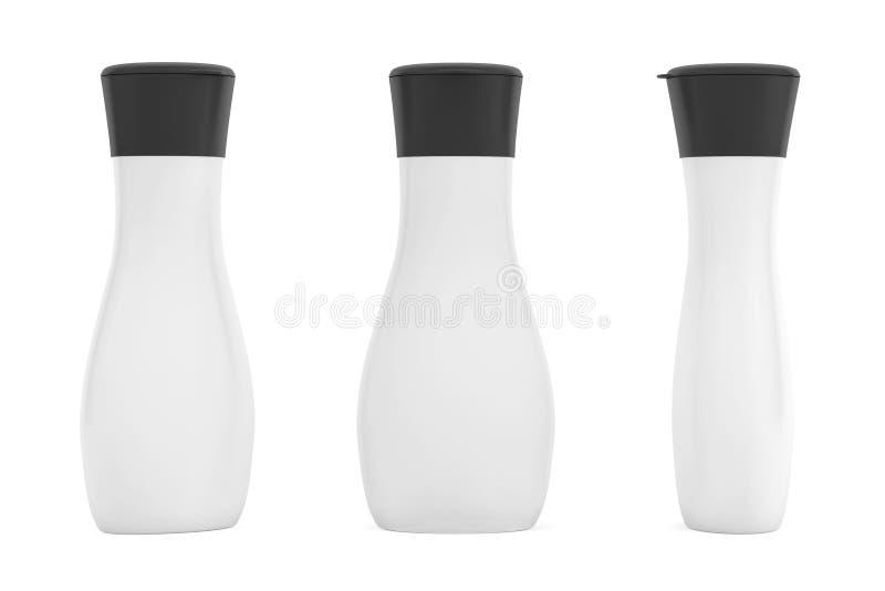 Embalaje plástico en blanco del tubo para los cosméticos fotos de archivo libres de regalías