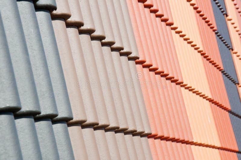 Embaldosado del tejado foto de archivo libre de regalías