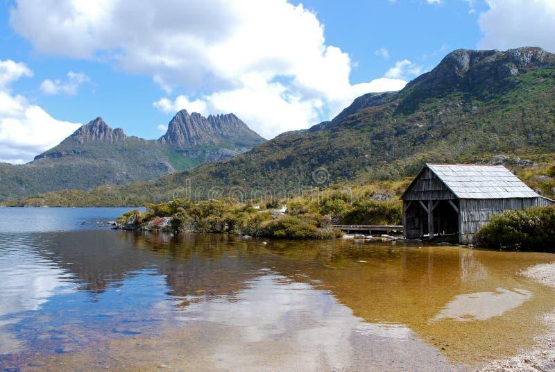 Embale a montanha em Tasmânia imagens de stock royalty free