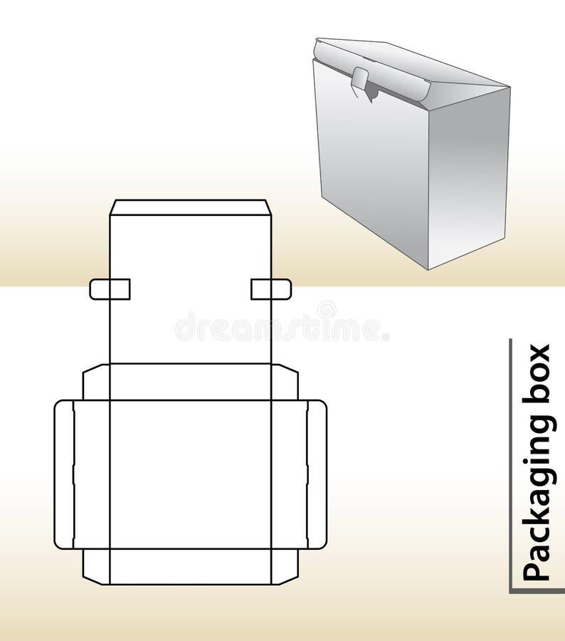 Emballage ask vektor illustrationer