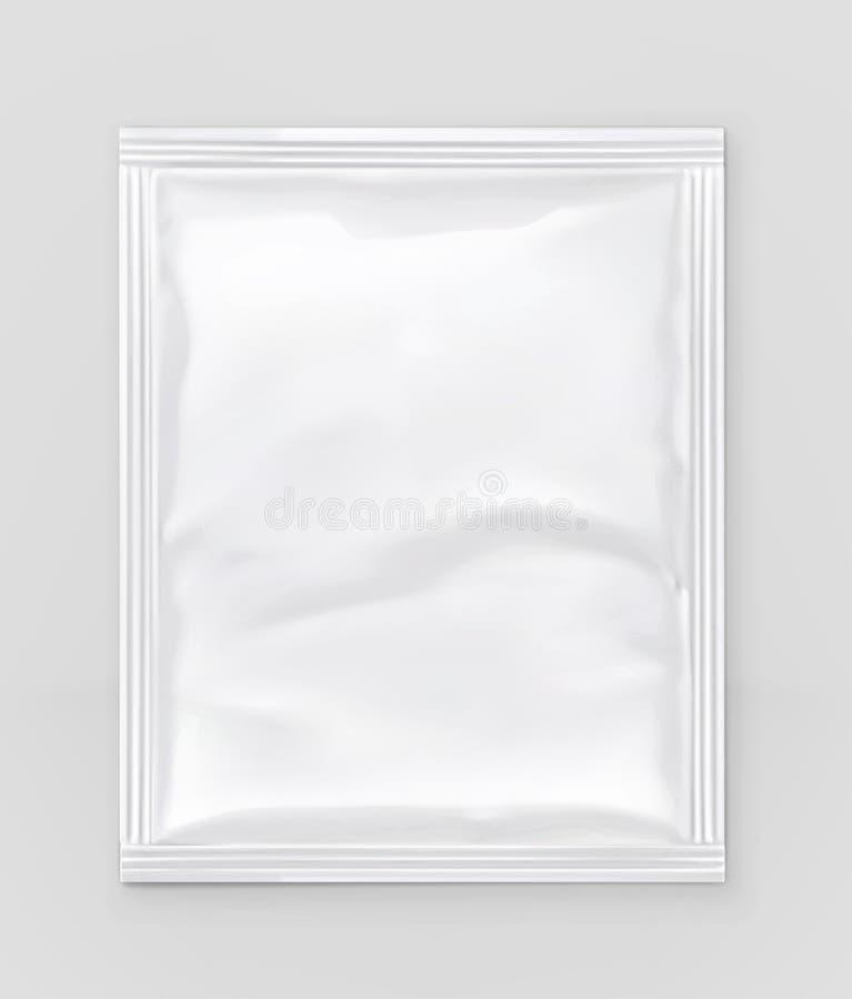 Emballage blanc de polyéthylène illustration stock