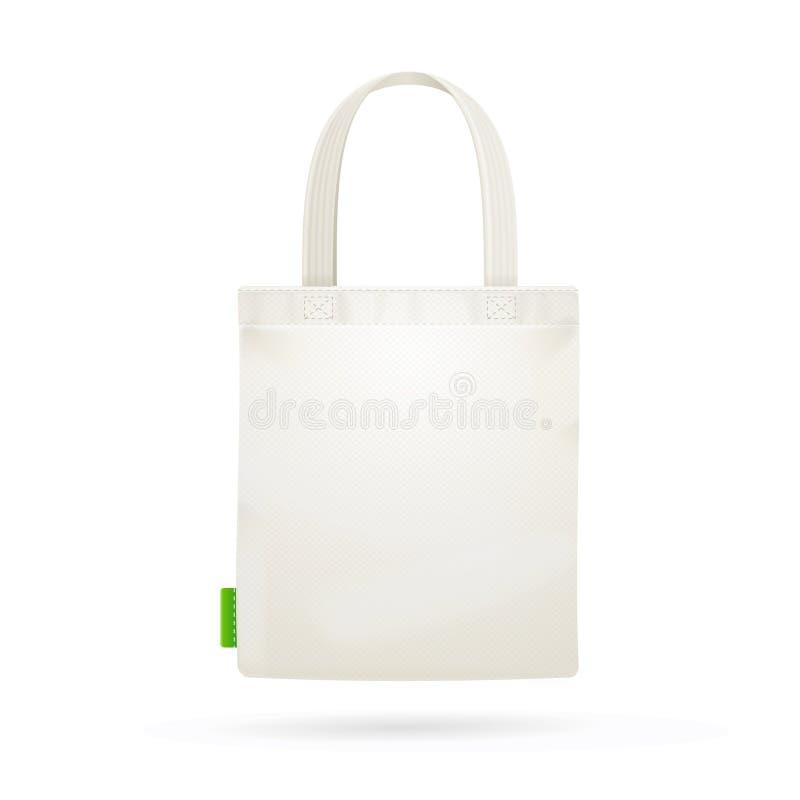 Emballage blanc de sac de tissu de tissu Vecteur illustration libre de droits