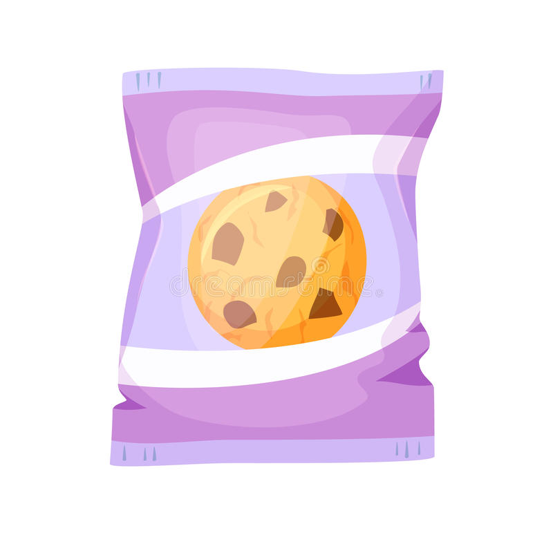 Emballage de biscuits de chocolat illustration stock