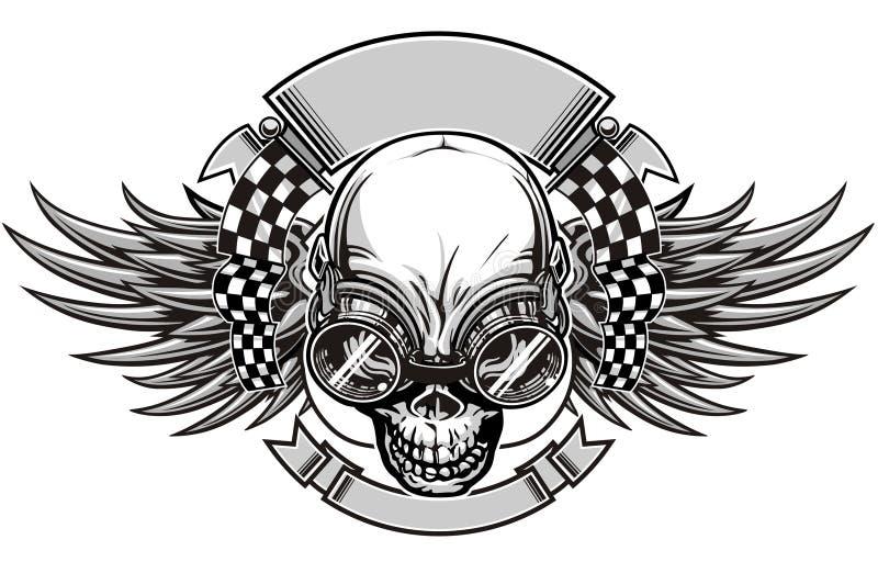 Emballage de crâne illustration stock