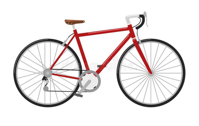 Emballage de l'illustration détaillée élevée de vecteur de bicyclette de route illustration stock